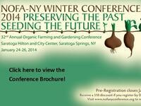 32nd Annual NOFA-NY Winter Conference: Preserving the Past, Seeding the Future