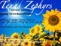 Texas Zephyrs Spring 2014 Recruitment Info Session
