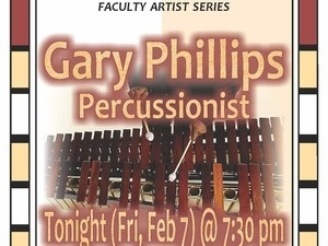 Faculty Recital: Gary Phillips, percussion