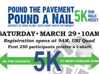 Pound the Pavement, Pound a Nail -- 5K Run, Walk, Mosey