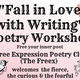 Fall in Love with Writing Poetry Workshop