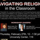 Navigating Religion in the Classroom: A Faculty Luncheon/Workshop