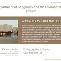 Geography and the Environment Colloquium: Kathleen Shafer