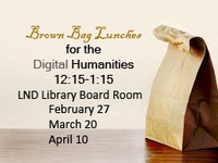 """Digital Humanities"" Brown Bag Discussion"