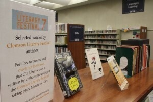 Clemson Literary Festival Authors' Display