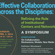 Effective Collaborations across the Disciplines