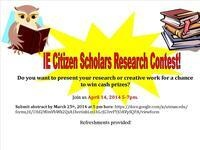 Apply: IE Citizen Scholars Research Week Contest