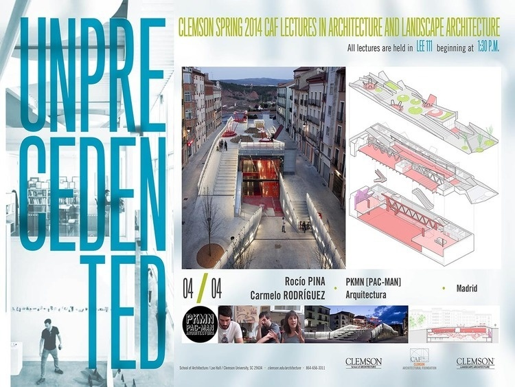 CAF Spring 2014 Lecture in Architecture and Landscape Architecture: Rocio Pina & Carmelo Rodriguez, PKMN (PAC-MAN) Arquitecturas (Madrid, Spain)