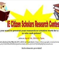 IE Citizen Scholars Research Week Contest