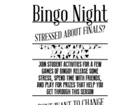 Finals Frenzy Bingo