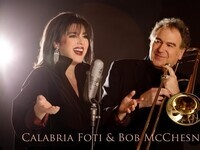 Bob McChesney and Calabria Foti with the Reno Jazz Orchestra