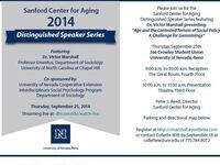 Sanford Center Aging 2014 Distinguished Speaker Series