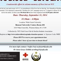 Muslims for Life 9/11 Blood Drive