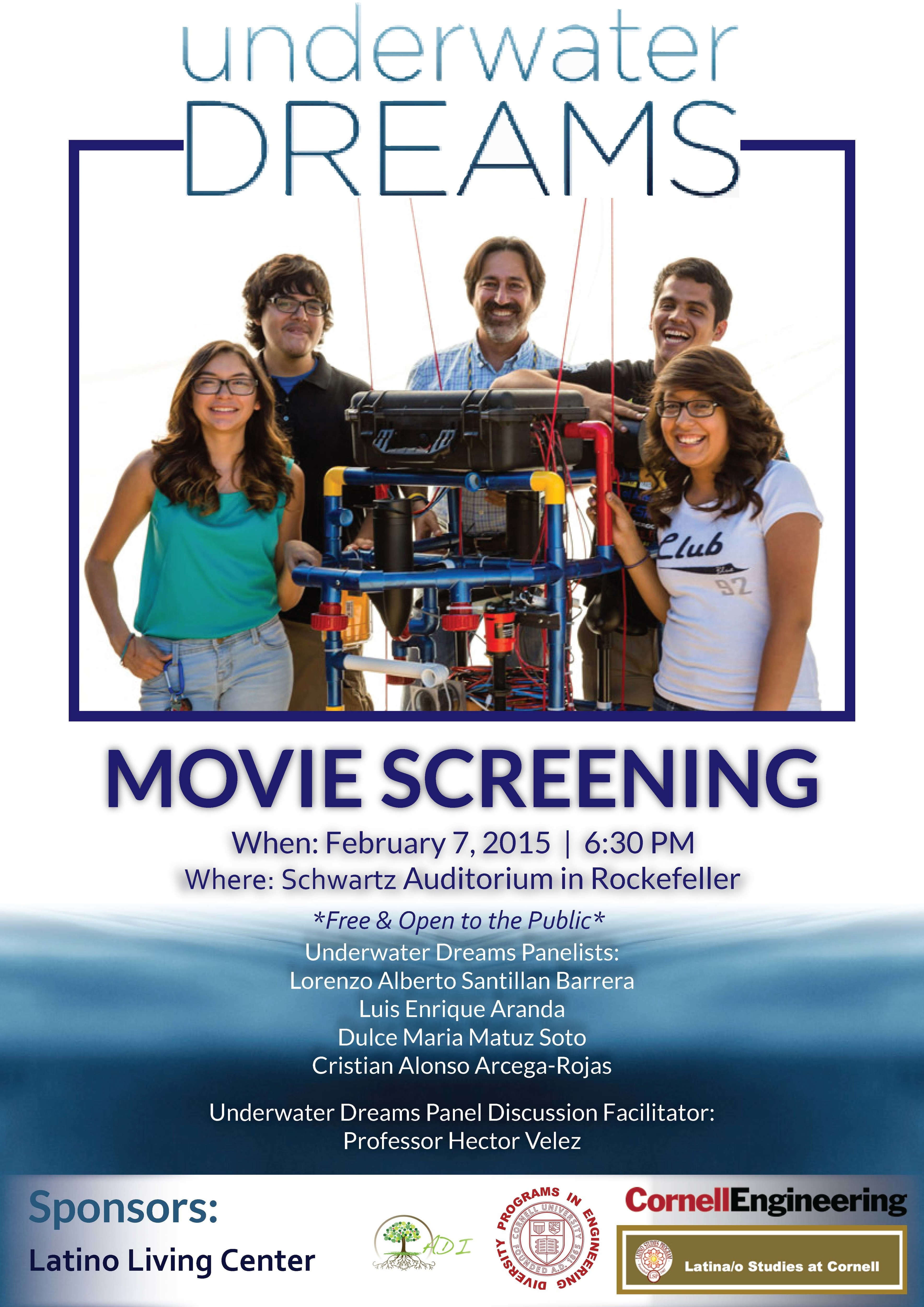 """""""Underwater Dreams""""  Movie Screening and Panel Discussion"""