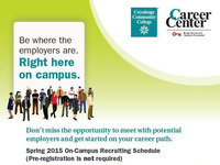 Career Center Spring 2015 On-Campus Recruiting