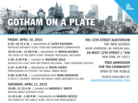 Gotham on a Plate: Food and NYC – Day 1