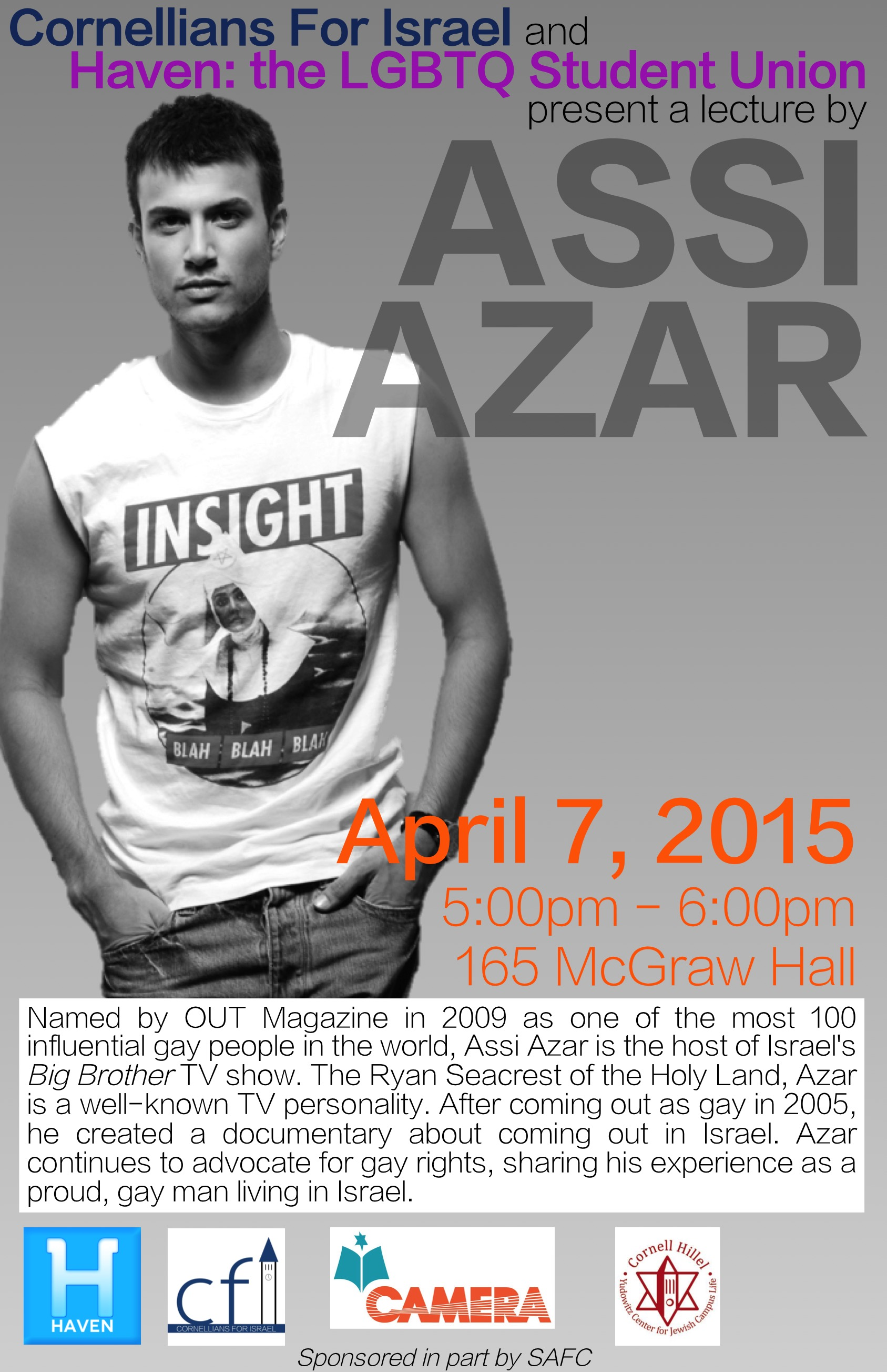 ASSI AZAR: Israeli TV personality and gay rights advocate