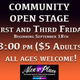 Community Open Stage (Open Mic)