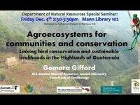 Agroecosystems for Communities and Conservation