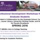 Professional Development Workshops for Graduate Students