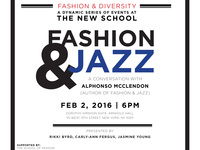 Fashion and Diversity Series at The New School: Fashion and Jazz
