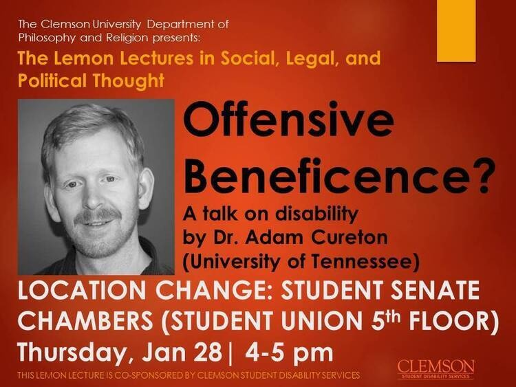 """Offensive Beneficence?""  A talk on disability"