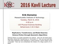 2016 Kavli Lecture
