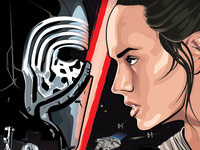 Cards Under the Stars - Star Wars: The Force Awakens