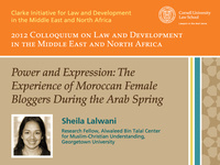Power and Expression: The Experience of Moroccan Female Bloggers During the Arab Spring