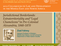 "Jurisdictional Borderlands: Extraterritoriality and ""Legal ‎Chameleons"" in Pre-‎Colonial Alexandria, 1840-1870"