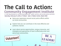 Call to Action: Community Engagement Institute