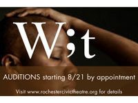 """Auditions for """"Wit"""" at The Rochester Civic Theatre Company"""
