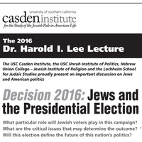 Decision 2016: Jews and the Presidential Election