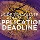 Second Degree application deadline for the Spring 2017 term