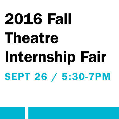 2016 Fall Theatre Internship Fair