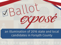 Ballot Exposé: An Illumination of 2016 State and Local Candidates in Forsyth County