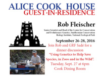 Dinner with guest-in-residence Rob Fleisher of the Smithsonian