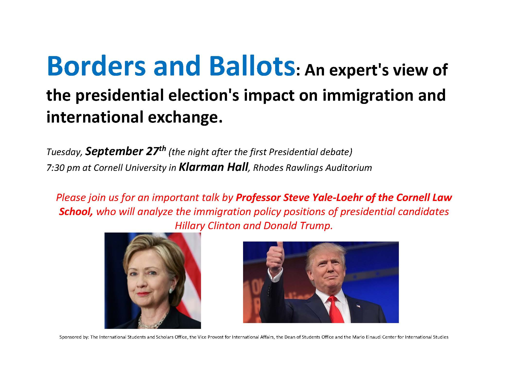 Borders and Ballots: An expert's view of the presidential election's impact on immigration and international exchange