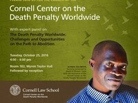 Launch of Cornell Center on the Death Penalty Worldwide