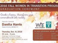 Women in Transition Program Graduation Fall 2016