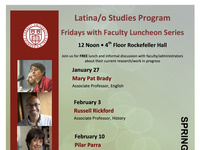 Latina/o Studies Fridays w/Faculty Seminar with  Russell Rickford