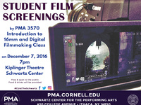 Performing & Media Arts PMA 3570 Students Showcase Films