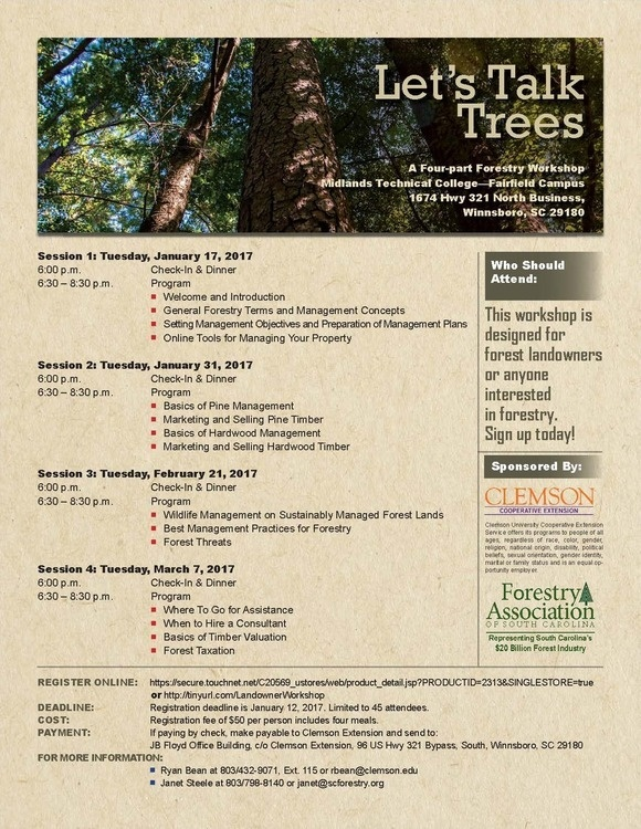 Let's Talk Trees:  A Four-Part Forestry Workshop