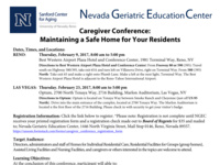 Caregiver Conference: Maintaining a Safe Home for Your Residents (Las Vegas)