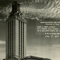 Exhibit: To Better Know a Building: The University of Texas Tower