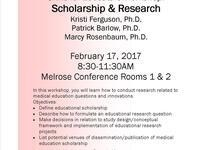 SFE Workshop: Scholarship and Research