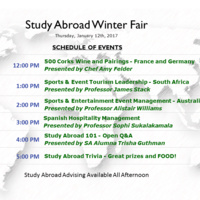 Study Abroad Winter Fair - Charlotte Campus
