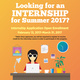 Summer 2017 Internship Application Open Enrollment