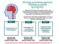 Writing & Metacognition Workshop: Spring 2017: Session 3