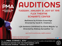 Auditions for Performing & Media Arts Productions